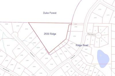 Durham County Residential Lots & Land For Sale: Ridge Road