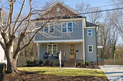 Raleigh Single Family Home For Sale: 521 Bart Street