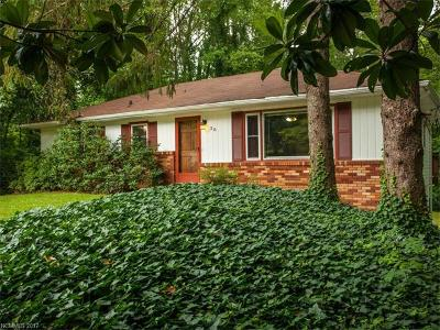 Asheville NC Single Family Home For Sale: $265,000