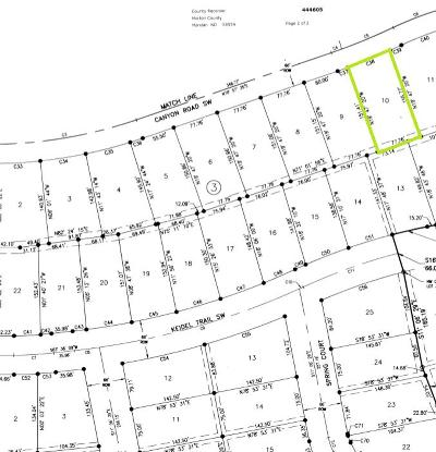 Residential Lots & Land For Sale: 603 Canyon Road SW