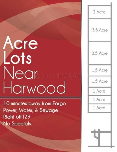 Harwood Residential Lots & Land For Sale: Lot 1 Tbd 57 Street N