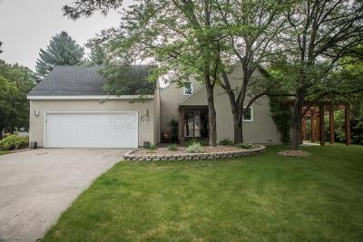 Fargo Single Family Home For Sale: 63 Prairiewood Drive S