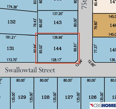 Papillion Residential Lots & Land For Sale: Lot 144 Shadow Lake 2