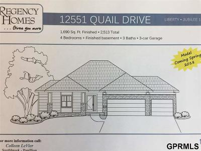 Bellevue Single Family Home Model Home Not For Sale: 12551 Quail Drive
