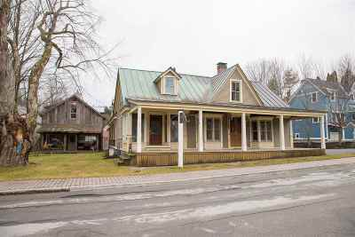 Stowe Single Family Home For Sale: 32/34 Park Street