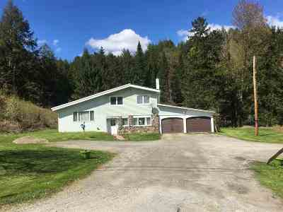 Morristown Single Family Home For Sale: 1059 Vt Rt 15e Highway