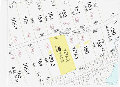 Hillsborough Residential Lots & Land For Sale: 160-2 Mary Rowe Drive #160-2