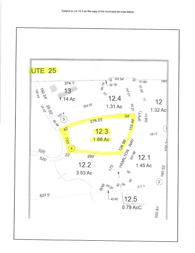 Plymouth Residential Lots & Land For Sale: Lot 3 Hamilton Way