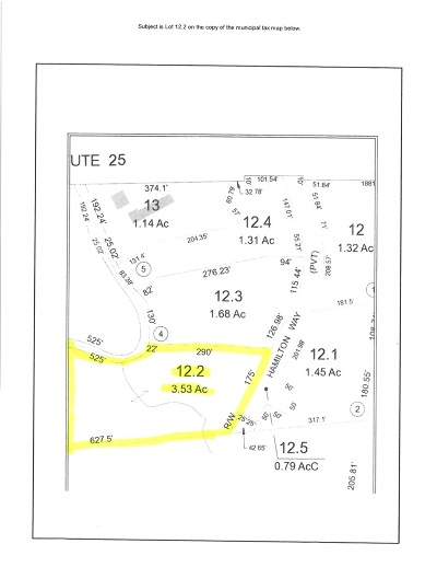Plymouth Residential Lots & Land For Sale: Lot #2 Hamilton Way