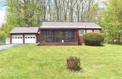 Rutland City VT Single Family Home Active Under Contract: $114,900