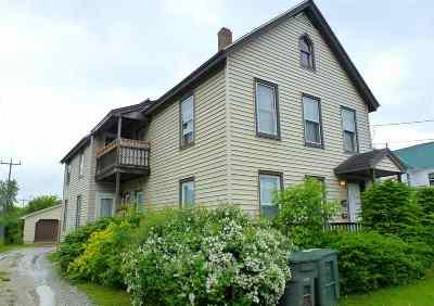 Rutland, Rutland City Multi Family Home For Sale: 300 West Street