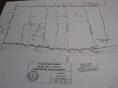 Strafford County Residential Lots & Land For Sale: 77 Lot Number Franklin Pierce Highway