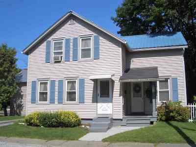 Rutland City VT Single Family Home For Sale: $92,000