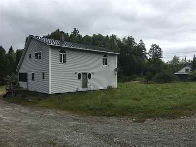 Wells River Single Family Home For Sale: 1938 Rt. 302 Wells River Vt 05081 Highway