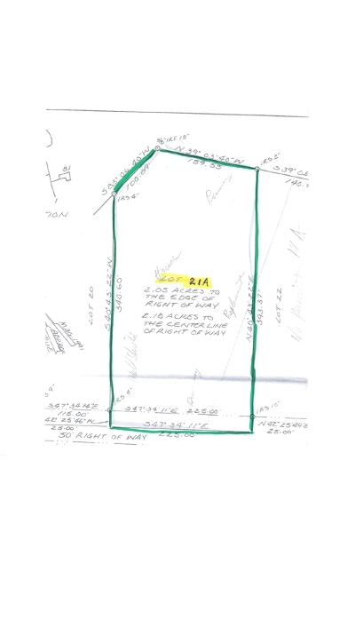 Residential Lots & Land For Sale: Lot #21a Mountain Estate Drive