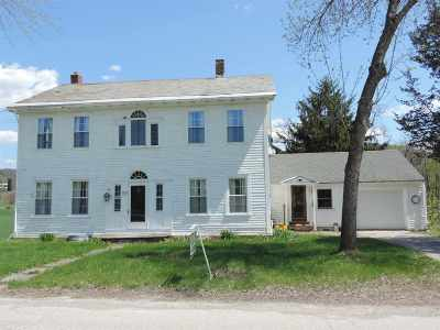 Poultney Single Family Home For Sale: 41 On The Green Road