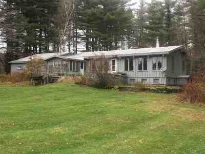 Waterville VT Single Family Home For Sale: $290,000