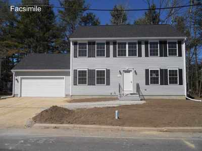 Hooksett Single Family Home Active Under Contract: Lot 13-14 University Circle