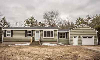 Hooksett Single Family Home Active Under Contract: 86 Chester Road