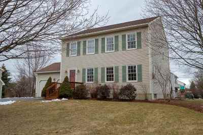 South Burlington Single Family Home Active Under Contract: 41 Moss Glen Lane