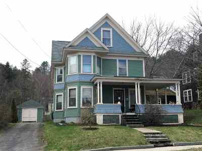 Caledonia County Single Family Home For Sale: 427 Cliff Street