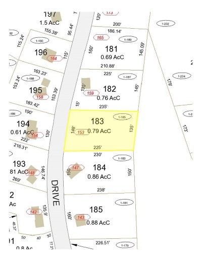 Gilford Residential Lots & Land For Sale: 153 Mountain Drive Drive #1-185