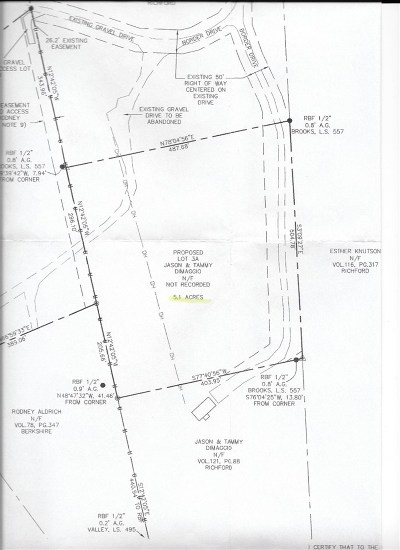 Richford Residential Lots & Land For Sale: 64 Border Drive