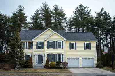 Merrimack Single Family Home Active Under Contract: 14 Nathan Hale Lane