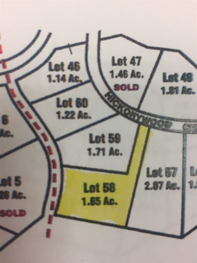 Meredith Residential Lots & Land For Sale: Lot 58 Hickorywood Circle #58