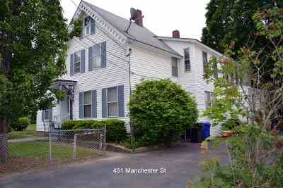 Manchester Multi Family Home For Sale: 451 Manchester Street