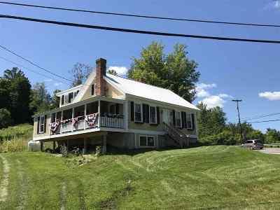 Waterbury Single Family Home For Sale: 3250 Waterbury-Stowe Road
