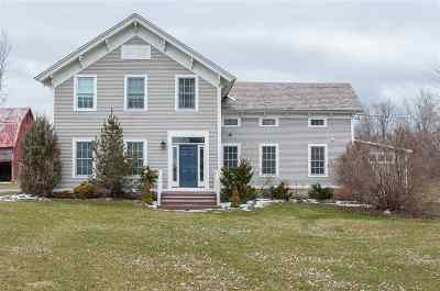 Cornwall Single Family Home Active Under Contract: 1986 Vt Route 74