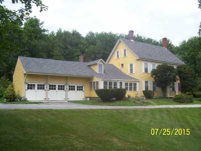 Antrim Single Family Home For Sale: 160 Concord (Aka Rte. 202) Street