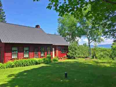 Caledonia County Single Family Home For Sale: 2293 Diamond Hill Road Road