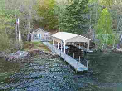 Belknap County, Carroll County, Cheshire County, Coos County, Grafton County, Hillsborough County, Merrimack County, Rockingham County, Strafford County, Sullivan County Single Family Home For Sale: 376 Rattlesnake Island