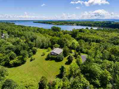 North Hero Single Family Home For Sale: 1396 Pelots Point House On 4 Acres Road