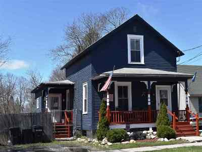 Rutland City VT Single Family Home For Sale: $88,000