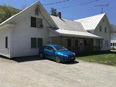 Wolcott Multi Family Home For Sale: 4058 Vermont Rt 15 Route