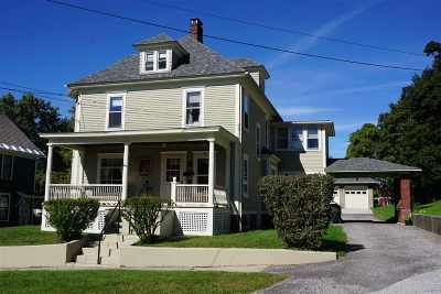 Rutland City VT Single Family Home For Sale: $189,900