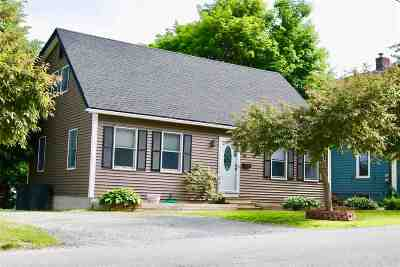 Rutland City VT Single Family Home For Sale: $179,000