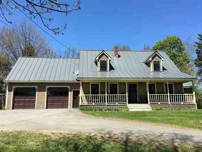 Caledonia County Single Family Home For Sale: 469 Bumps Road