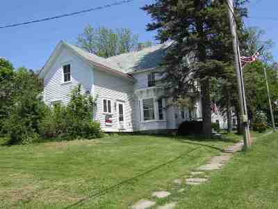 Orwell Single Family Home For Sale: 18 North Orwell Road