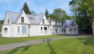 Fairlee Single Family Home For Sale: 56 Us Rte 5 N