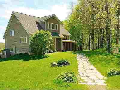 Cambridge Single Family Home For Sale: 1581 Bartlett Hill Road