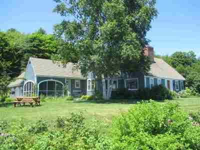Caledonia County Single Family Home For Sale: 1498 Wheelock Rd. Road