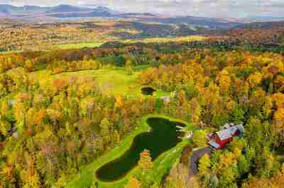 Stowe, Chelsea, Randolph, Barre City, Barre Town, Berlin, Cabot, Calais, Duxbury, East Montpelier, Fayston, Marshfield, Middlesex, Montpelier, Moretown, Northfield, Plainfield, Roxbury, Waitsfield, Warren, Waterbury, Woodbury, Worcester Single Family Home For Sale: 500 North Hill Road