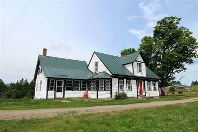 Caledonia County Single Family Home For Sale: 345 Currier Road