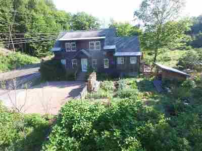 Waterbury Single Family Home For Sale: 1474 Waterbury Stowe Road