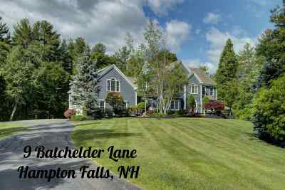 Hampton Falls Single Family Home For Sale: 9 Batchelder Lane