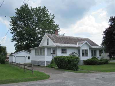 Rutland City VT Single Family Home For Sale: $149,000